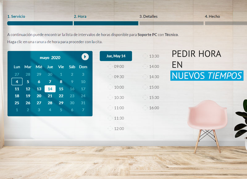Reservas citas pedir hora agenda calendario online web app negocio Accudo gratis